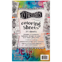 Dyan Reaveley's Dylusions Coloring Sheets, väritysarkit