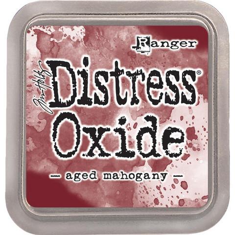 Distress Oxide -mustetyyny, sävy aged mahogany