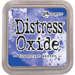 Distress Oxide -mustetyyny, sävy blueprint sketch