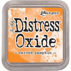 Distress Oxide -mustetyyny, sävy carved pumpkin