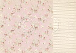 Pion Design Paris Flea Market skräppipaperi Pink Fabric