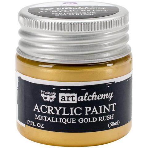 Finnabair Art Alchemy akryylimaali. Sävy Metallique Gold Rush