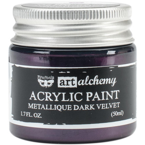 Finnabair Art Alchemy akryylimaali. Sävy Metallique Dark Velvet