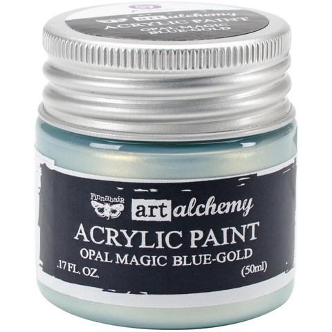 Finnabair Art Alchemy akryylimaali. Sävy Opal Magic Blue/Gold