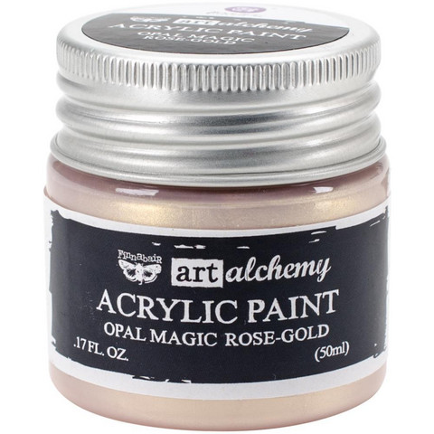 Finnabair Art Alchemy akryylimaali. Sävy Opal Magic Rose/Gold