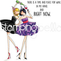 Stamping Bella kumileimasin Whitney and Wendy love Wine
