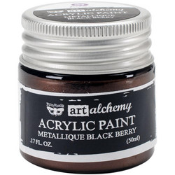 Finnabair Art Alchemy akryylimaali. Sävy Metallique Black Berry