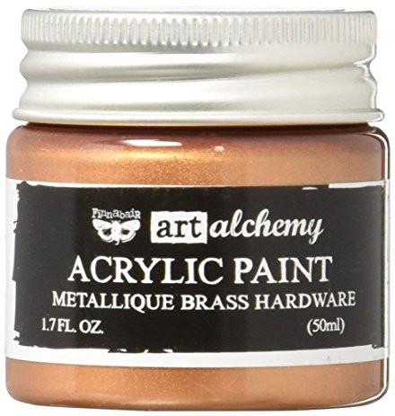 Finnabair Art Alchemy akryylimaali. Sävy Metallique Brass Hardware