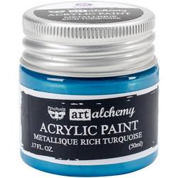 Finnabair Art Alchemy akryylimaali. Sävy Metallique Rich Turquoise