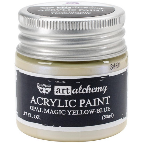 Finnabair Art Alchemy akryylimaali. Sävy Opal Magic Yellow/Blue