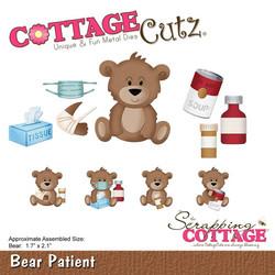 CottageCutz Bear Patient -stanssisetti