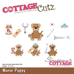CottageCutz Puppy -stanssisetti