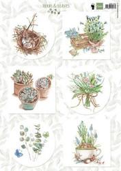 Marianne Design korttikuvat Herbs & Leaves