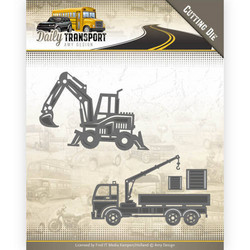Amy Design Daily Transport stanssisetti Construction Vehicles