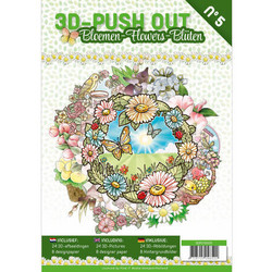 3D-Push Out -kirja Flowers