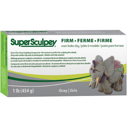 Super Sculpey Firm Clay -massa, harmaa