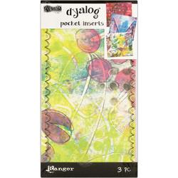 Dylusions Dyalog Printed Pocket Inserts, taskut