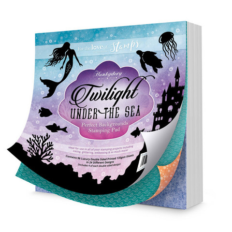 Hunkydory Perfect Background Stamping Pads -paperipakkaus Twilight Under the Sea
