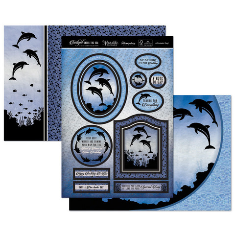 Hunkydory Twilight Under the Sea Luxury Topper -pakkaus, A Fin-tastic Day!