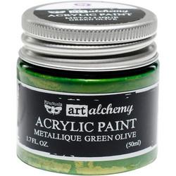 Finnabair Art Alchemy akryylimaali. Sävy Metallique Green Olive