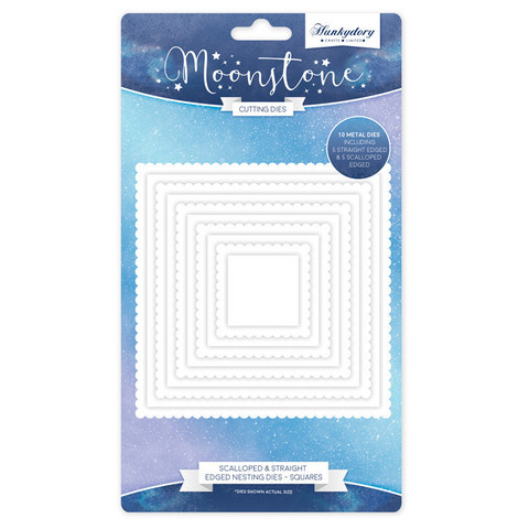 Hunkydory stanssisetti Scalloped & Straight Edged Nesting Squares
