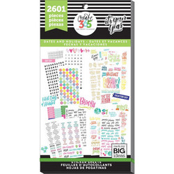 Mambi Happy Planner -tarrapakkaus Dates and Holidays