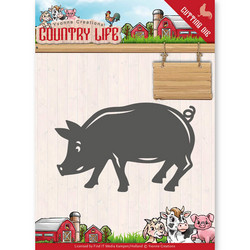 Yvonne Creations Country Life stanssi Pig