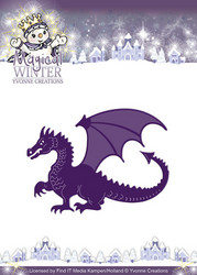Yvonne Creations Magical winter stanssi Dragon