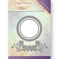 Jeanines Art Vintage Flowers stanssisetti Flowers and Circles