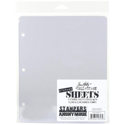 Tim Holtz Storage Sheets,  5 kpl