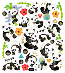 Sticker King tarrat Pandas