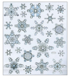Sticker King tarrat Silver & White Snowflakes