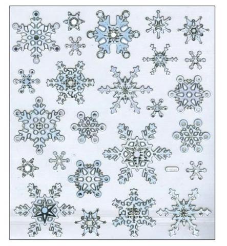 Sticker King tarrat Silver & White Snowflakes