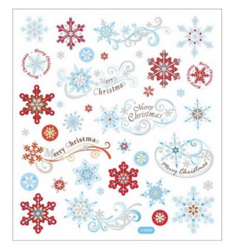 Sticker King tarrat Red & Blue Snowflakes