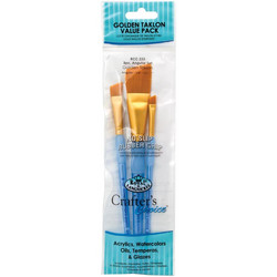 Crafter's Choice Gold Taklon Angular -sivellinsetti, 3 kpl