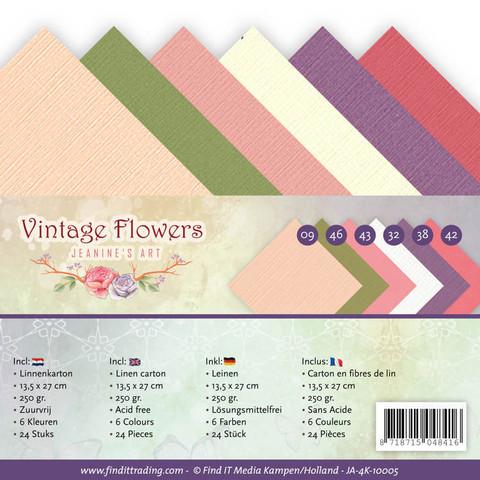 Jeanines Art Vintage Flowers kartonkipakkaus