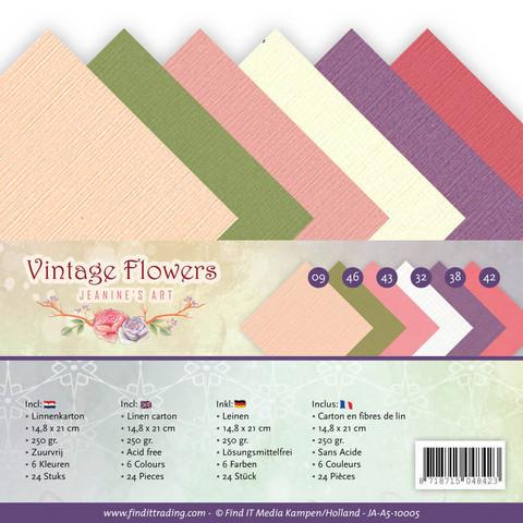 Jeanines Art Vintage Flowers kartonkipakkaus, A5