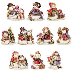 Valmiiksi leikattuja 3D kuvia, Christmas Snowmen