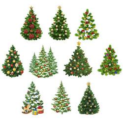 Valmiiksi leikattuja 3D kuvia, X-mas Trees