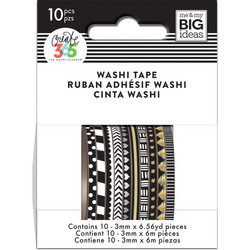Mambi Mini Washi -teipit, Black & White