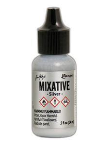 Tim Holtz Metallic Mixative alkoholimuste, sävy Silver