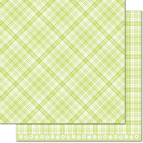 Lawn Fawn Perfectly Plaid Spring skräppipaperi Lily Of The Valley