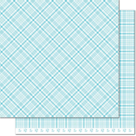 Lawn Fawn Perfectly Plaid Spring skräppipaperi Bluebell