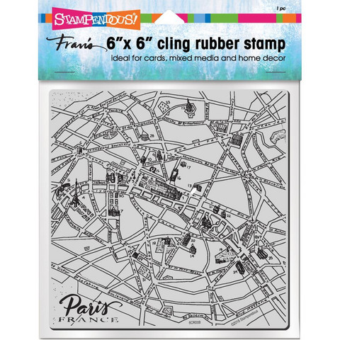 Stampendous leimasin Paris Map