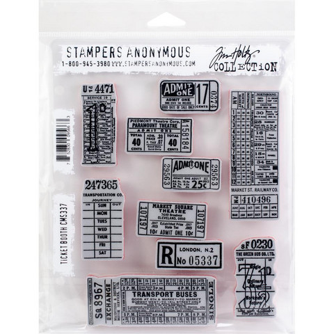 Stampers Anonymous, Tim Holtz leimasinsetti Ticket Booth