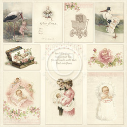 Pion Design Images from the Past skräppipaperi Sweet Baby I