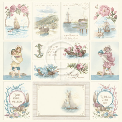 Pion Design Images From The Past skräppipaperi Seaside Stories II
