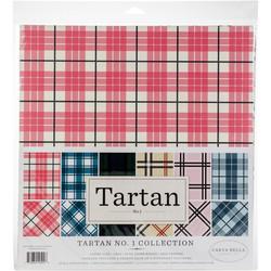 Carta Bella Tartan -paperipakkaus, 12