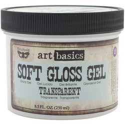 Finnabair Art Basics Soft Gloss Gel, transparent