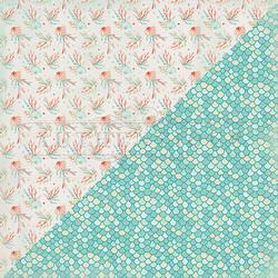 Authentique Sea-Maiden skräppipaperi Seashells & Coral